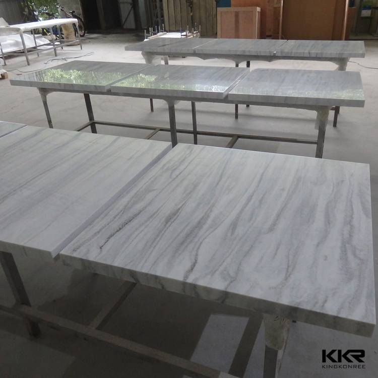 Veined & Texture color solid surface restaurant buffet tables