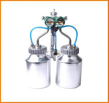 Ningbo 2015 hot on sales hymair chrome paint double nozzle gun