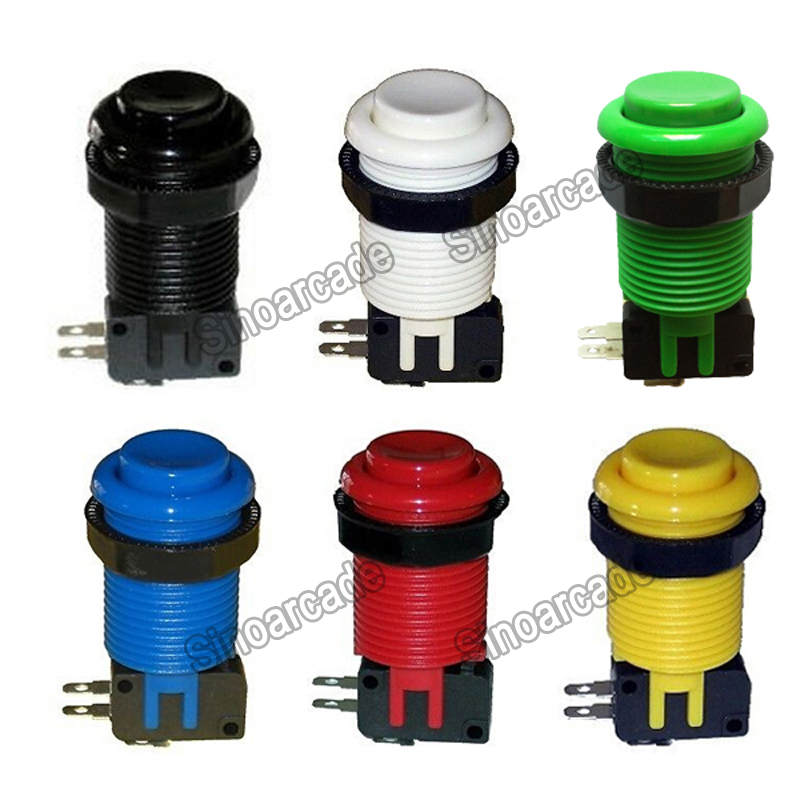 Arcade American HAPP Style Push Button with Microswitch for Jamma MAME Game Accessory 6 colors
