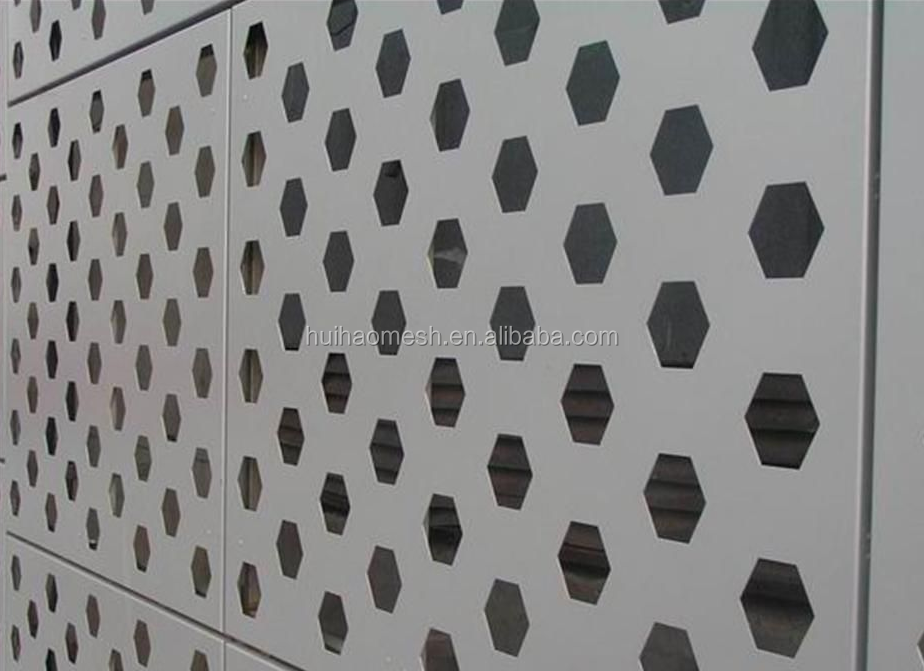 Decorative Perforated Metal Screen Panel, Aluminum Wall Decoration