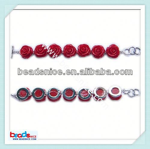 Beadsnice ID 9851 Plastic bracelet flower:20mm wholesale findings suppliers handmade jewelry materials
