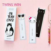 Students creative notes message card and new style cat profiled paper printing fancy bookmarks.