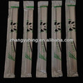 plastic package Disposable bamboo Chopsticks in blk