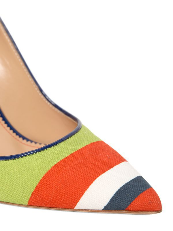 2015 mature italian fashion multicolor canvas high heels sexy design party shoes for women online shopping