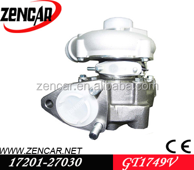 12 month warranty GT1749V toyota rav4 turbocharger 17201-27040 with 1CD-FTV/021Y <strong>engine</strong>