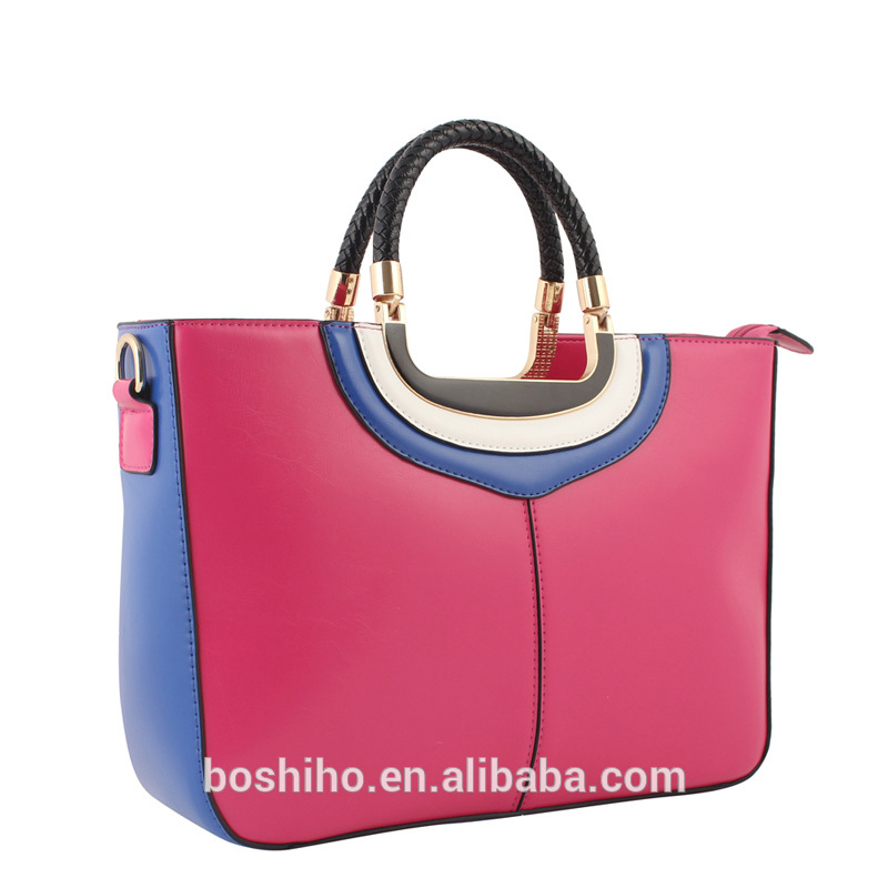 2016 new design leather woman lady fashion handbag shoulderbag