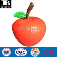 high quality giant inflatable apples plastic inflatable fruit folding portable durable rubber inflatable apples toys for kids