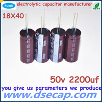 wholesale electrolytic capacitor 50v 2200uf with low impedance aluminum capacitor