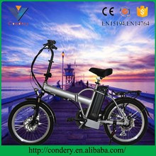 20 inch fat tire 36V folding pedal assisted ebike electric bike bicycle