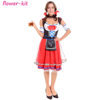 Sexy Maid Gown Oktoberfest Beer Girl Costume Adult Halloween Cosplay Costume