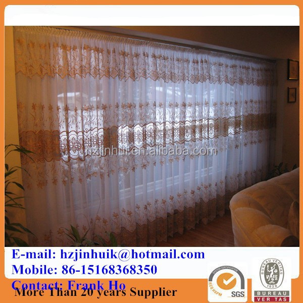 lace embroidery shower curtains