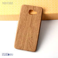 2016 3 Colors PU Back Cover Wooden Grain Mobile Phone Soft Case for Samsung A7100