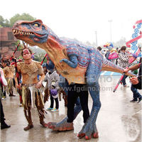 New Style Low Cost Halloween Product promotion inflatable walking with dinosaur costume