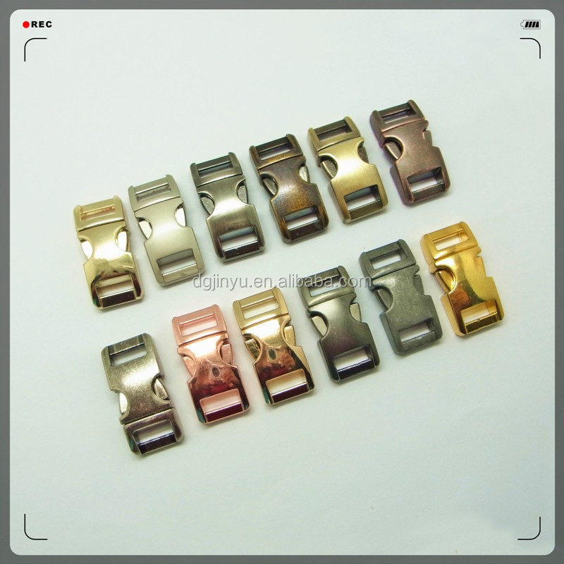3/8'' colored metal side release buckle/zinc alloy paracord buckle/550 paracord buckle