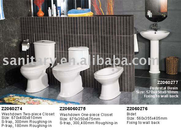 water closet and bathroom toilet