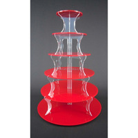 Factory price clear acrylic cake stand for wedding & birthday