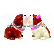 Lovely Kissing French Bulldog Figurine