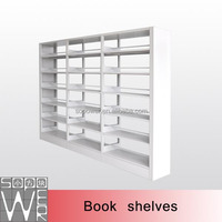 used double sided library shelving