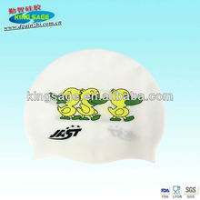 customized printed silicone swimming cap,large swimming cap,fashionable swim caps