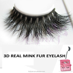 3D Volume Real Mink Fur Strip Eyelash With Thin and Soft band