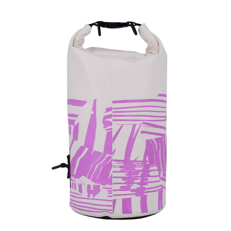 2017 OEM customize PVC white waterproof dry bag with single strap