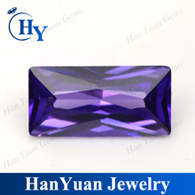Rectangle Shape Amethyst Cubic Zirconia import items