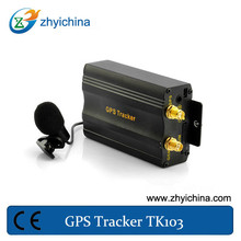 Five authorized phone number to protect tracker information gps gsm anti-theft vehicle tracke TK103A with SD card and USB cable