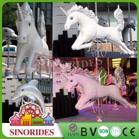Rides machines horses for exhibition amusement game carrousel machine price