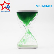 Beautiful Green color Liquid Motion Oil Sand Timer Hourglass