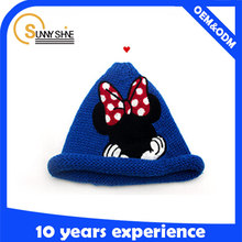 Funny Custom Beanie Hat/Baby Mickey Knit Winter Hat