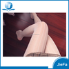 women's white vertical bar jacquard sheer mesh nylon 40D pantyhose