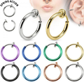 Surgical steel wholesale magnetic anodized hoop septum nose clip jewelry