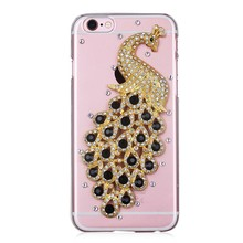 Handmade Bling Glitter Rhinestone Crystals Diamond Sparkle peacock case for iphone 6