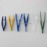 Disposable medical one_off plastic tweezers,medical forceps just for one use