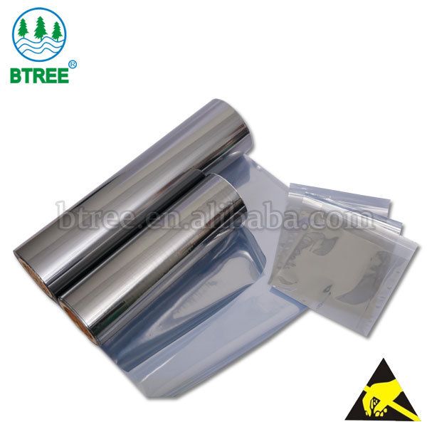 Btree ESD Anti static Coating Film For Static Bags Packing Electrnic Components