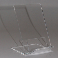 Large Crystal Clear Acrylic Desk Office Mobile Phone Stands Rack Lucite Book Display Rack