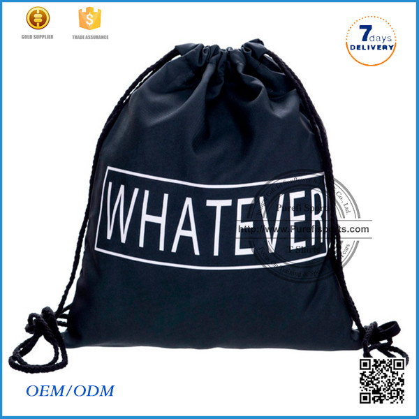 2016 Made in China Nee arrival wholesale drawsrting polyester bag promotional shopping bag