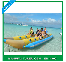 Flying towables for water sports, cheap inflatable boat, inflatable banana boat tube