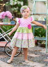 Baby Boutique Remake Wholesale OEM Customize Children Girls Sleeveless 100 Cotton Dress Without Patterns
