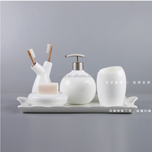 selling christmas Ceramic Bathroom Accessories toothbrush holder set