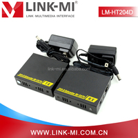 New Product LM-HT204D 60m DVI to UTP Extender Transmitter & Receiver Over Cat6/6e/7 Support 3D Compliant HDCP 1.2