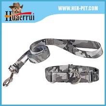 2016 China factory produce low price soft flexible polyester printed new patterns dog collar and leash