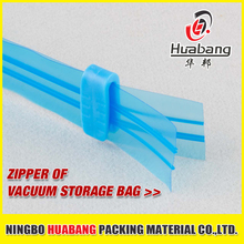 Hot sale Eco-friendly cheap plastic vacuum bag zipper PE double track zip