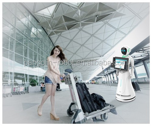Multi-function service robot with greeting say welcome