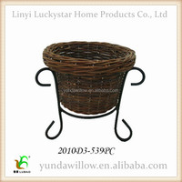 Wholesale Handmade Cheap Wicker Flower Pot Basket For Plants