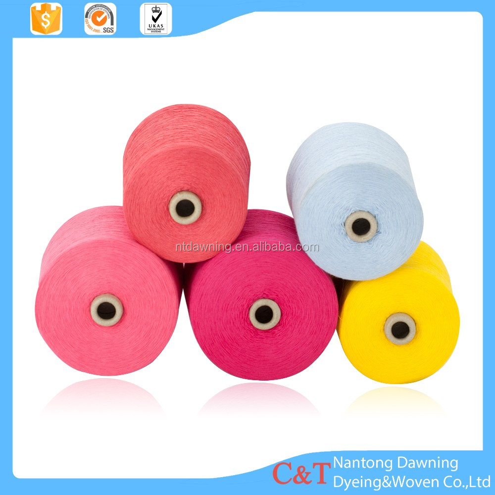 High quality 100 cotton dyed yarn factory