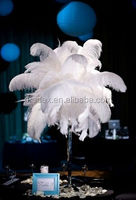 White plumes for carnival decoration ostrich feather