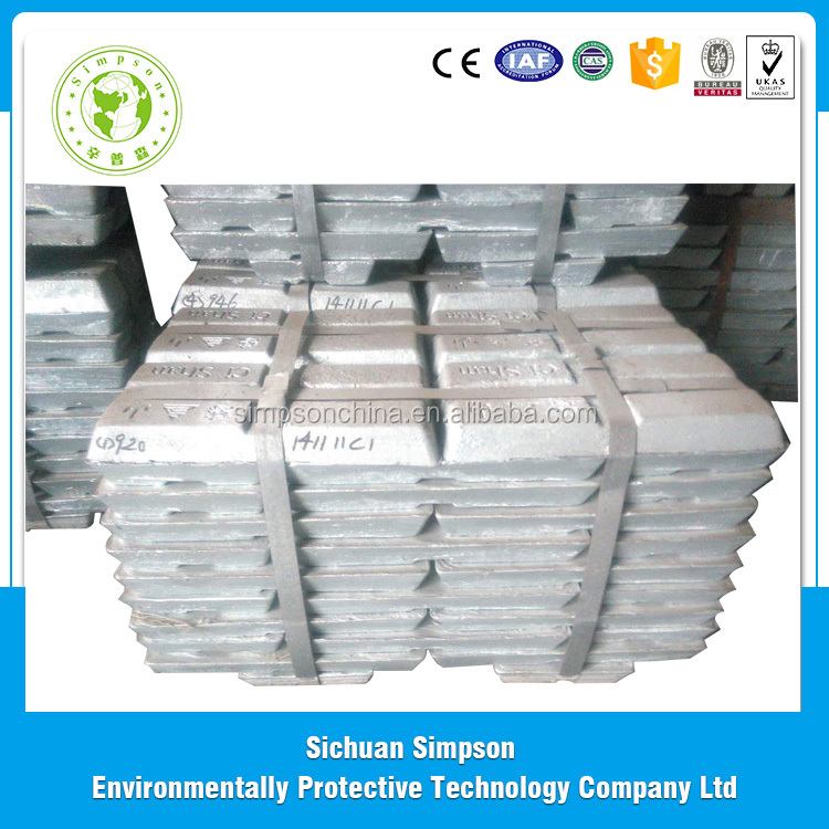 High Grade zinc ingot price, zinc alloy ingot 99.99% per ton in china wholesale