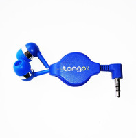 Cheap customized promotion retractable earpiece, retractable earbud