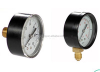 Black Steel Brass Pressure Gauges Internals Bourdon Tube 40mm Manometer